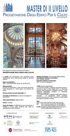 Calendario Didattico Sapienza Ingegneria.Master Progettazione Edifici Per Il Culto 2017